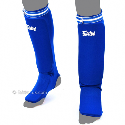 Fairtex Elastic Competition Shinguards - Blue